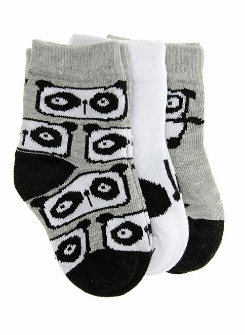 Soobe 3'lü Çorap Gri